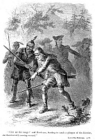 0036639 © Granger - Historical Picture ArchiveLAST OF THE MOHICANS, 1872.   Engraving after Felix O.C. Darley from an edition of James Fenimore Cooper's 'The Last of the Mohicans,' 1872.