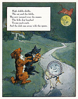 0043963 © Granger - Historical Picture ArchiveHIGH DIDDLE DIDDLE.   Illustration by Frederick Richardson for a 1915 edition of 'Mother Goose' nursery rhymes.