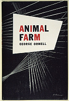 0047215 © Granger - Historical Picture ArchiveORWELL: ANIMAL FARM, 1946.   Front jacket cover for the first U.S. edition of George Orwell's novel