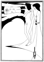 0058250 © Granger - Historical Picture ArchiveBEARDSLEY: SALOME.   'The Woman in the Moon.' Pen-and-ink drawing by Aubrey Vincent Beardsley for Oscar Wilde's 'Salome.'