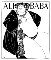 0058318 © Granger - Historical Picture ArchiveBEARDSLEY: ALI BABA.   Cover design. Drawing by Aubrey Vincent Beardsley for 'The Forty Thieves.'