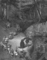0065837 © Granger - Historical Picture ArchiveRICKY OF THE TUFT.   Engraving from a 19th century edition of the Perrault fairy tale illustrated after Gustave Doré.