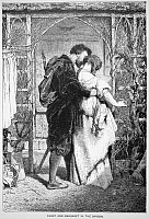 0070139 © Granger - Historical Picture ArchiveGOETHE: FAUST.   Faust and Marguerite in the garden from Johann Goethe's 'Faust.' Wood engraving, 19th century.