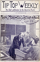 0077400 © Granger - Historical Picture ArchiveDIME NOVEL, 1897.   'Frank Merriwell's Return to Yale, or The Mystery of the Examination Papers.