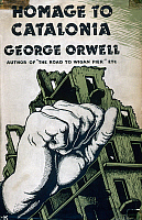 0115597 © Granger - Historical Picture ArchiveHOMAGE TO CATALONIA, 1938.   First British edition of 'Homage to Catalonia' by George Orwell, 1938.
