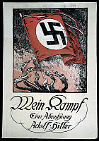 0173545 © Granger - Historical Picture ArchiveHITLER: MEIN KAMPF.   Front cover of an edition of Adolf Hitler's 'Mein Kampf,' published by the 'Võlkischer Beobachter,' the newspaper of the Nazi party.
