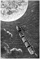 0176081 © Granger - Historical Picture ArchiveVERNE: FROM EARTH TO MOON.   Engraving from a 19th-century edition of Jules Verne's 'From the Earth to the Moon.'