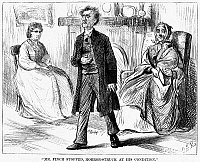 0265875 © Granger - Historical Picture ArchivePOOR MISS FINCH, 1871.   'Mr. Finch stopped, horror-struck at his condition.' Illustration for chapter seventeen of the novel 'Poor Miss Finch,' by Wilkie Collins. Engraving, American, 1871.