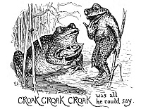 0041369 © Granger - Historical Picture ArchiveANDERSEN: THUMBELINA.   'Croak, croak, croak was all he could say.' Drawing, by Henry J. Ford for the fairy tale by Hans Christian Andersen.
