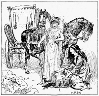 0041379 © Granger - Historical Picture ArchivePERRAULT: CINDERELLA, 1891.   Pen-and-ink drawing, 1891, by George Percy Jacomb Hood for the fairy tale by Charles  Perrault (1628-1703).
