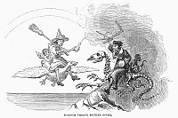 0093501 © Granger - Historical Picture ArchiveSCIENCE VS. MOTHER GOOSE.   Wood engraving, American, 1876, after David Hunter Strother (known as Porte Crayon).