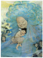 0266843 © Granger - Historical Picture ArchiveTHE WATER BABIES, 1916.   'Mrs. Doasyouwouldbedoneby.' Illustration by Jessie Wilcox Smith, published in a 1916 edition of 'The Water Babies' by Charles Kingsley.