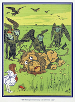 0408796 © Granger - Historical Picture ArchiveWIZARD OF OZ, 1900.   'The Monkeys wound many coils about his body.' Illustration by W.W. Denslow for the first edition of 'The Wonderful Wizard of Oz' by L. Frank Baum, 1900.