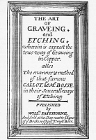 0371276 © Granger - Historical Picture ArchiveTITLE PAGE: ENGRAVING, 1662.   Title page from 'The Art of Graveing and Etching,' by William Faithorne. Published in London, 1662.