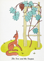 0010730 © Granger - Historical Picture ArchiveAESOP: FOX AND GRAPES.   'The Fox and the Grapes.' Drawing by Christopher Sanders of the most famous of Aesop's 'Fables.'