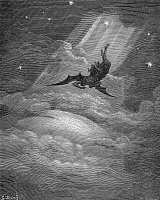 0005726 © Granger - Historical Picture ArchiveMILTON: PARADISE LOST.   Wood engraving after Gustave Doré for John Milton's 'Paradise Lost.'