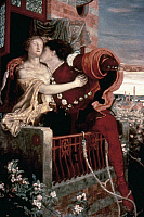 0027188 © Granger - Historical Picture ArchiveROMEO AND JULIET   'Romeo and Juliet.' Oil on canvas by Ford Madox Brown, 1870.
