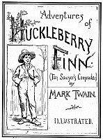 0030888 © Granger - Historical Picture ArchiveCLEMENS: HUCKLEBERRY FINN.   Cover from the original edition, 1885, with illustrations by E.W. Kemble.