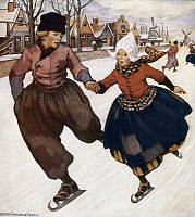 0035154 © Granger - Historical Picture ArchiveSMITH: SILVER SKATES.   Illustration by Jessie Willcox Smith (1863-1935) to
