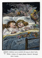 0035931 © Granger - Historical Picture ArchiveNIGHT BEFORE CHRISTMAS.   'The children were nestled all snug in their beds, while visions of sugarplums danced through their heads.' Illustration from an 1883 edition of Clement Clarke Moore's celebrated poem, 'The Night Before Christmas.'