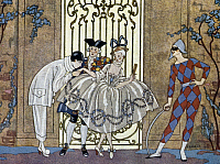 0037848 © Granger - Historical Picture ArchiveBARBIER: FETES GALANT 1928.   Illustration by George Barbier for a 1928 edition of 'Fetes Galantes,' by Paul Verlaine.