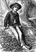 0042537 © Granger - Historical Picture ArchiveCLEMENS: TOM SAWYER.   Frontispiece engraving for the first edition of Mark Twain's 'The Adventures of Tom Sawyer,' 1876.