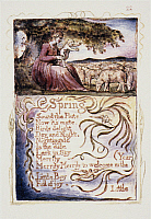 0045504 © Granger - Historical Picture ArchiveSONGS OF INNOCENCE.   'Spring.' Color relief etching by William Blake from his 'Songs of Innnocence,' 1789.