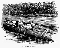 0093132 © Granger - Historical Picture ArchiveCLEMENS: HUCK FINN.   Drawing by Edward Windsor Kemble for the 1885 American edition of Mark Twain's 'The Adventures of Huckleberry Finn.'