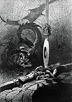 0363694 © Granger - Historical Picture ArchiveLITERATURE.   The Pit and the Pendulum, by Edgar Allan Poe (1809-1849), 1842. Illustration by Ferat for a Paris edition from 1884. Full Credit: De Agostini Picture Library / Granger, NYC -- All Rights Reserved.