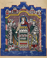 0364276 © Granger - Historical Picture ArchiveLITERATURE.   Judah and the children of Israel, miniature from the Second Bible of St Martial of Limoges, manuscript, facsimile. France, XI-12th century. Full Credit: De Agostini Picture Library / Granger, NYC -- All rights reserved.