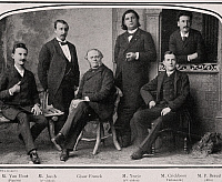 0364861 © Granger - Historical Picture ArchiveLITERATURE.   Cesar-Auguste Franck (1822-1890), seated in the center, with the Ysaye Quartet. Illustration from Music magazine, April 1903. Full Credit: De Agostini / G. Dagli Orti / Granger, NYC -- All rights reserved.