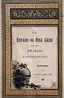 0365153 © Granger - Historical Picture ArchiveLITERATURE.   Commemorative card for the 25th anniversary of the music of Edvard Grieg (1843-1907) and Nina Hagerup (1845-1935), printed in Christiania. Full Credit: De Agostini / A. Dagli Orti / Granger, NYC -- All rights reserved.