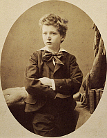 0365270 © Granger - Historical Picture ArchiveLITERATURE.   Ferruccio Busoni (Empoli, 1866-Berlin, 1924), Italian pianist, composer and conductor, as a youth. Full Credit: De Agostini / A. Dagli Orti / Granger, NYC -- All righ