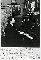 0365380 © Granger - Historical Picture ArchiveLITERATURE.   Ferruccio Busoni (Empoli, 1866-Berlin, 1924), Italian pianist, composer and conductor, in Fiume in 1909. Full Credit: De Agostini / A. De Gregorio / Granger, NYC -- All Rights Reserved.