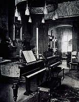 0365386 © Granger - Historical Picture ArchiveLITERATURE.   Studio of Italian composer Ferruccio Busoni (1866-1924) in his house at Vienna, Austria. Full Credit: De Agostini / A. De Gregorio / Granger, NYC -- All rights reserv