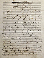 0365390 © Granger - Historical Picture ArchiveLITERATURE.   Autograph sheet music of Finnlandische Volksweisen (Finnish folk songs), by Ferruccio Busoni (1866-1924). Full Credit: De Agostini / A. De Gregorio / Granger, NYC -- All Rights Reserved.