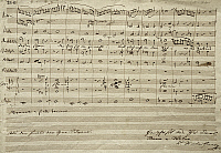 0365417 © Granger - Historical Picture ArchiveLITERATURE.   Handwritten scored for the opera Silvana, by Carl Maria Friedrich Ernst von Weber (1786-1826). Full Credit: De Agostini / A. Dagli Orti / Granger, NYC -- All rights r