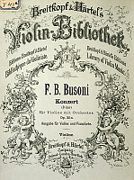 0365441 © Granger - Historical Picture ArchiveLITERATURE.   Cover of the Concert for violin op 35, by Ferruccio Busoni (1866-1924). Full Credit: De Agostini / A. Dagli Orti / Granger, NYC -- All rights reserved.