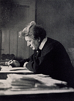 0365447 © Granger - Historical Picture ArchiveLITERATURE.   Ferruccio Busoni (1866-1924) in Zurich in 1917. Full Credit: De Agostini / A. Dagli Orti / Granger, NYC -- All Rights Reserved.
