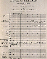 0365448 © Granger - Historical Picture ArchiveLITERATURE.   First page of the Turandot Suite, by Ferruccio Busoni (1866-1924). Full Credit: De Agostini / A. Dagli Orti / Granger, NYC -- All rights reserved.