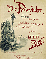 0365512 © Granger - Historical Picture ArchiveLITERATURE.   Title page of the German edition of The pearl fishers, 1863, opera in three acts by Georges Bizet (1838-1875) with libretto by Michel Carre (1821-1872) and Eugene Cormon (1811-1903). Full Credit: De Agostini / A. Dagli Orti / Granger, NYC -- All rights reserved.