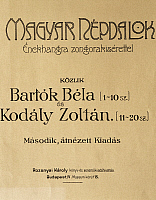 0365656 © Granger - Historical Picture ArchiveLITERATURE.   First edition of Folk Songs, by Zoltan Kodaly (1882-1967) published in 1906 in collaboration with Bela Viktor Janos Bartok (1881-1945). Full Credit: De Agostini / A. Dagli Orti / Granger, NYC -- All rights reserved.