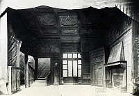 0365962 © Granger - Historical Picture ArchiveLITERATURE.   Set design depicting the interior of Ford's house in Falstaff, opera by Giuseppe Verdi (1813-1901), performed in Paris, April 18, 1894. Full Credit: De Agostini Picture Library / Granger, NYC -- All rights reserved.