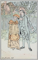0528755 © Granger - Historical Picture ArchivePRIDE AND PREJUDICE.   'But little had she dared to hope that so much love and eloquence awaited her there.' Illustration by H.M. Brock for a 1906 edition of 'Pride and Prejudice' by Jane Austen.