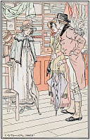 0528776 © Granger - Historical Picture ArchiveJANE AUSTEN: EMMA.    'I stood for a minute, feeling dreadfully, you know.' Illustration by C.E. Brock, published in a 1906 edition of 'Emma' by Jane Austen.