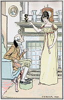 0528783 © Granger - Historical Picture ArchiveJANE AUSTEN: EMMA.   'Poor man!- it was at first a considerable shock to him.' Illustration by C.E. Brock, published in a 1906 edition of 'Emma' by Jane Austen.