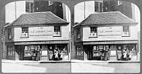 0622439 © Granger - Historical Picture ArchiveOLD CURIOSITY SHOP, c1914.   Exterior of 'The Old Curiosity Shop,' immortalized by Charles Dickens's novel, London, England. Stereograph, c1914.