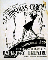 0622442 © Granger - Historical Picture ArchivePOSTER: A CHRISTMAS CAROL.   Poster for a performance of Charles Dickens's 'A Christmas Carol,' presented by the Federal Theatre Marionettes, c1938.