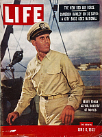 0049176 © Granger - Historical Picture ArchiveLIFE MAGAZINE, 1955.   'Life' magazine cover, 1955, featuring Henry Fonda as 'Mr Roberts.'
