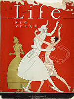 0057546 © Granger - Historical Picture ArchiveNEW YEAR: MAGAZINE COVER.   'The Cut-in-Dance.' Cover of 'Life' magazine's New Year issue, 31 December 1925.